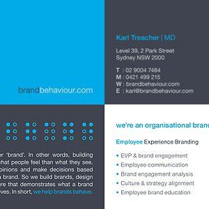 Brand Behaviour business cards